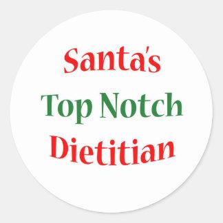 Dietitian Top Notch Classic Round Sticker