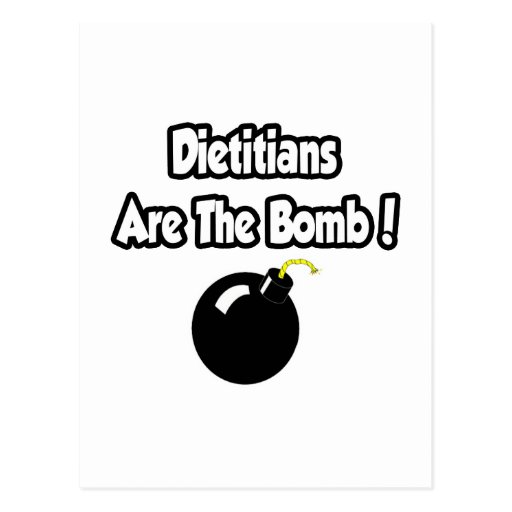 Dietitians Are The Bomb! Postcard