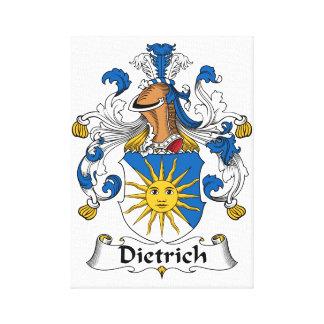 Dietrich Family Crest Canvas Print