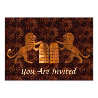 Diez barras de los mandamientos y de los invitación 12,7 x 17,8 cm