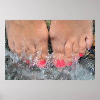 Diez dedos del pie el día de fiesta póster
