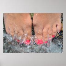 Diez dedos del pie el día de fiesta posters
