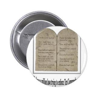 Diez mandamientos con cita pin redondo de 2 pulgadas