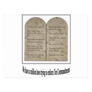 Diez mandamientos con cita postal