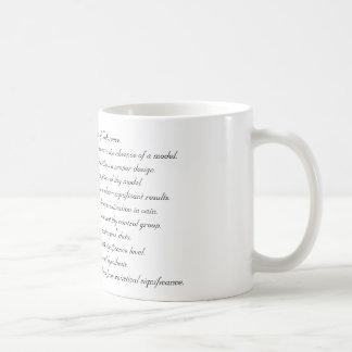 Diez mandamientos de la inferencia taza de café