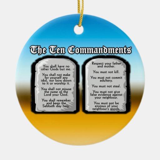Diez mandamientos de la Sagrada Biblia, la ley de  Adorno