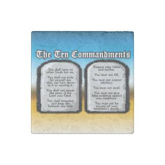 Diez mandamientos de la Sagrada Biblia, la ley de Imán De Piedra