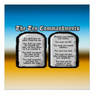 Diez mandamientos de la Sagrada Biblia, la ley de  Perfect Poster