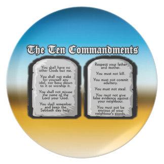 Diez mandamientos de la Sagrada Biblia, la ley de  Platos