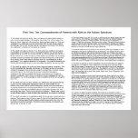 Diez mandamientos de padres con los niños en el Au Poster