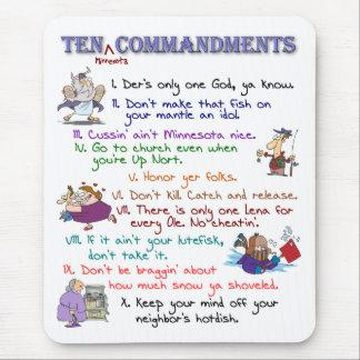 Diez mandamientos Mousepad de Minnesota