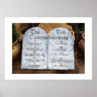 Diez mandamientos impresiones