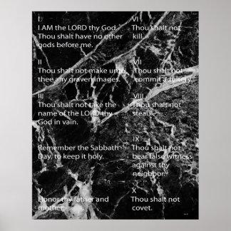 Diez mandamientos poster