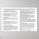 Diez mandamientos para obrar recíprocamente con Au Poster