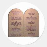 Diez mandamientos pegatina redonda