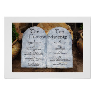 Diez mandamientos póster