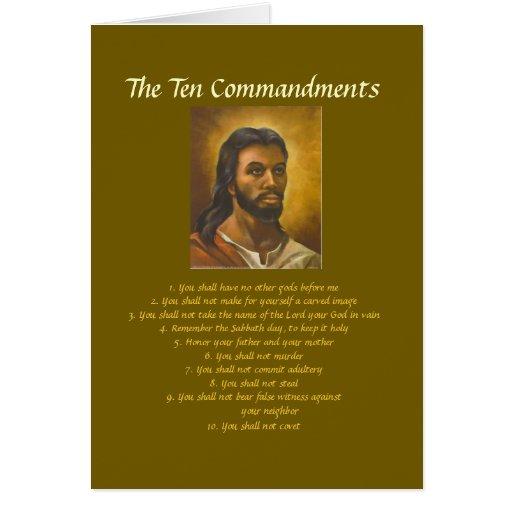 Diez mandamientos tarjeta de felicitación