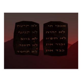 Diez mandamientos tarjetas postales
