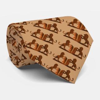 Diez mandamientos y leones corbatas personalizadas