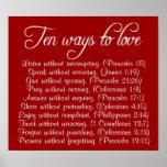 Diez maneras de amar el poster del verso de la bib
