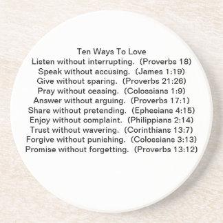 Diez maneras de amar los prácticos de costa posavasos personalizados