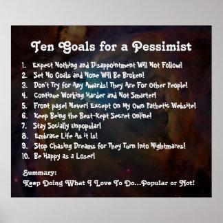 Diez metas para un poster del pesimista