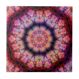 Diez señalaron el caleidoscopio colorido radial tejas