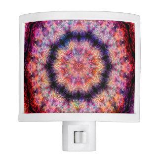 Diez señalaron el caleidoscopio colorido radial lámpara de noche
