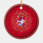 Diez señores aleaping adorno de navidad