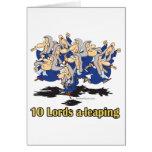 diez señores uno-que saltan el 10mo décimo día de  tarjetón