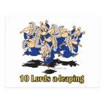 diez señores uno-que saltan el 10mo décimo día de  postales