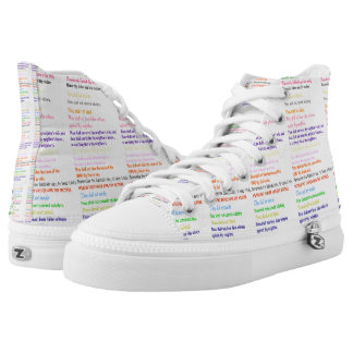 Diez zapatos impresos Hola-Top religioso de los Zapatillas