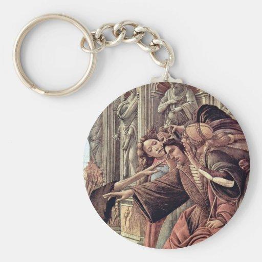 Difamación de Botticelli Sandro (la mejor calidad) Llavero