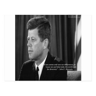 Diferencia de JFK/cita de la diversidad Tarjeta Postal