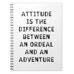 Diferencia de la actitud libreta