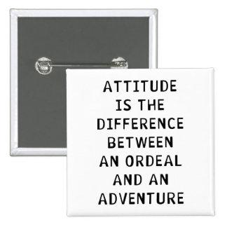 Diferencia de la actitud pin cuadrado
