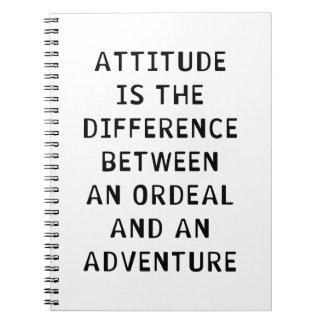 Diferencia de la actitud spiral notebook