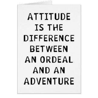 Diferencia de la actitud tarjeta de felicitación