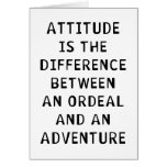 Diferencia de la actitud tarjeton