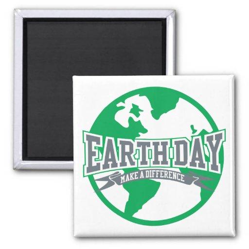 Diferencia del Día de la Tierra Imán De Frigorifico
