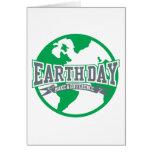Diferencia del Día de la Tierra Tarjeton