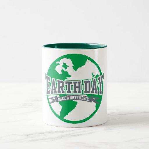 Diferencia del Día de la Tierra Tazas De Café