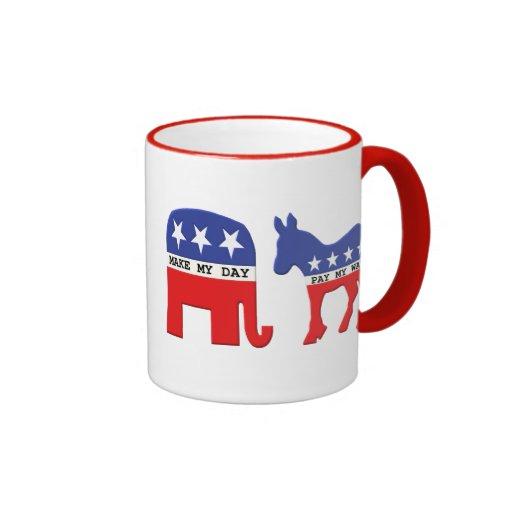Diferencia entre los republicanos y Demócratas div Taza De Café