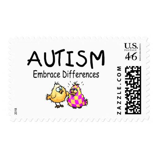 Diferencias del abrazo (2 polluelos) sellos