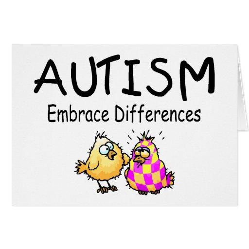 Diferencias del abrazo (2 polluelos) tarjeta de felicitación