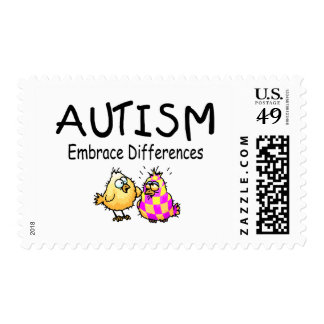 Diferencias del abrazo (2 polluelos) timbre postal