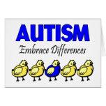 Diferencias del abrazo del autismo felicitación