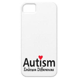 Diferencias del abrazo del autismo funda para iPhone 5 barely there
