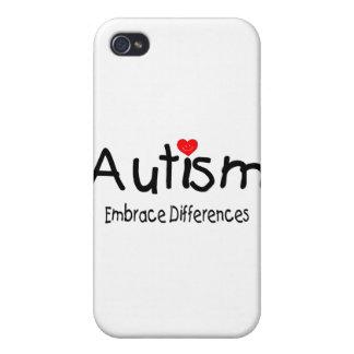 Diferencias del abrazo del autismo iPhone 4/4S fundas