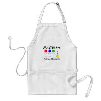 Diferencias del abrazo del autismo (gente) delantal